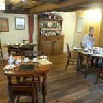 Beams in the breakfast room date back to 1550