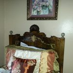 One of the beds in the Wyatt Earp room