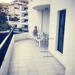 Massive balcony, all day sun