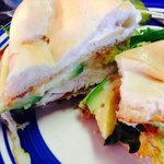 Grilled chicken and avocado sandwich - so moist and flavorful!