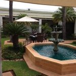 Breakfast at the Palm Park Hotel in the Courtyard