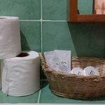 Toiletries provided..