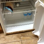 Inside of fridge was rusted. Freezer needed defrosting badly. Wouldn't freeze ice packs, even wi