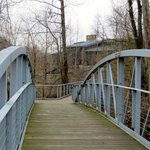 Path from the Park Heritage Rustic Home across Bridge to the Discovery Center