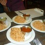 riz et sauce pour les tacos