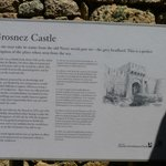 The information board inside the castle entrance.