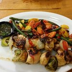 Chicken Kabobs with grilled veggies!! Unbelievably delicious!