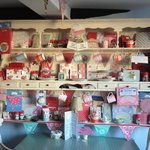 Lots of cute things to buy at mad hatters teashop!