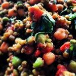 Green Lentil, Chickpea & Roast Garlic Salad