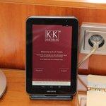Tablette dans la chambre avec connexion internet