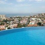 Infinity pool overlooking Puerta Vallarta