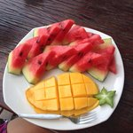Fruitsalad: Watermelon and Mango