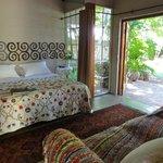 One of the delightful garden rooms