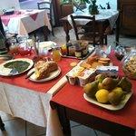 the breakfast spread.  Delicious!