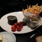 Steak at the restaurant