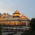 Early evening at the Rambagh Palace