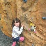 Emma climbing
