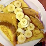 Texas French Toast with bananas and no powdered sugar