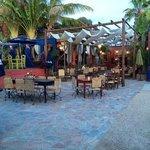 The patio at La Cornela