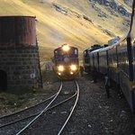 Passing trains at La Raya Pass