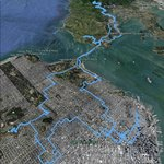 This is a Geolog track from Google Earth that shows the approximate route of the tour.