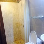 Updated bathroom with great shower