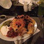 Nachos in the restaurant