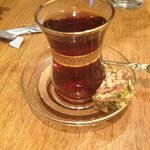 Turkish tea with turkish delight