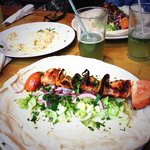 Our favourite! Shish Tauq, mint lemonade (so good) and hummus :)