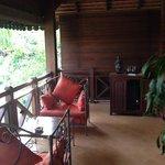 Balcony seating area