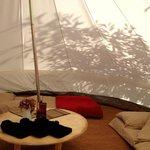 Bell tent sleeping 4