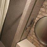 grande cabine de douche en pate de verre