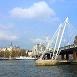 Jubilee Bridge,  a few minutes down Northumberland Ave