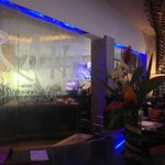 Lobby Sushi Bar with water fall window
