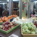 fresh fruit available at all meals