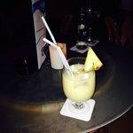 Lovely piña colada in the green bar
