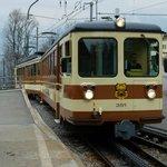 Train en gare de Leysin