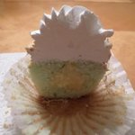 The Inside Of The Key Lime Pie Cupcake