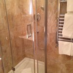 Shower, small but clean and functional