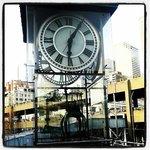 A beautiful clock inside the Ferry Terminal area