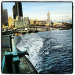 Leaving Seattle to Bremerton on the ferry