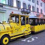 Il Trenino Giallo in Piazza Cavour a Tirano