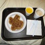 Texas-shaped blueberry waffles!