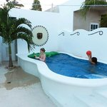 Grandchildren enjoying the pool at Casa Marbella.