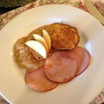 Apple Pancakes w/Canadian Bacon