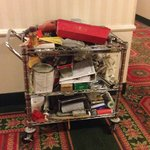 Renovation's cart in the hallway?