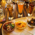 Tri of food to pair with beer at Rouge