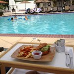 snack at the pool
