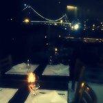 Vista lindíssima da ponte Hercílio Luz