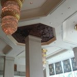 the ceiling in the lobby lounge